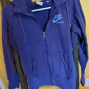 Purple Nike zip-up